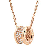 "18k Pink Gold & Diamond ""B.Zero1"" Pendant Necklace"