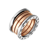 "​18k Pink & White Gold ""B.Zero1"" 4-Band Ring"