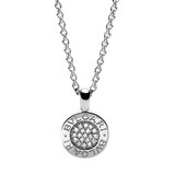 Bvlgari-Bvlgari 18k White Gold &amp; Diamond Pendant