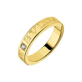 "18k Yellow Gold & Diamond ""Bvlgari-Bvlgari"" Ring"