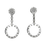 Bvlgari-Bvlgari 18k White Gold & Diamond Drop Earrings