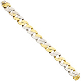 18k Yellow Gold Wide Curblink Bracelet