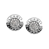 Bvlgari-Bvlgari 18k White Gold &amp; Diamond Earrings