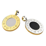 Bvlgari-Bvlgari 18k Gold &amp; Steel Pendant
