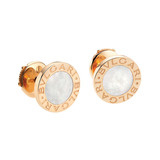 Bvlgari-Bvlgari 18k Pink Gold &amp; Mother-of-Pearl Earrings