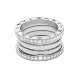 "​18k White Gold & Diamond ​""B.Zero1"" 4-Band Ring"