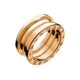 B.Zero1 18k Pink Gold 3-Band Ring