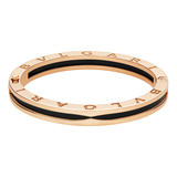 B.Zero1 18k Pink Gold & Black Ceramic Bangle Bracelet