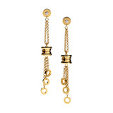 B.Zero1 18k Gold Pendant Earrings with Diamond