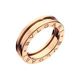 "​18k Pink Gold ""BZero1"" Band Ring"