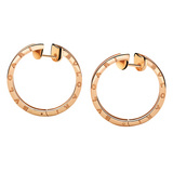 "Large 18k Pink Gold ""B.Zero1"" Hoop Earrings"
