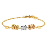 B.Zero1 18k Tri-Color Gold Bracelet