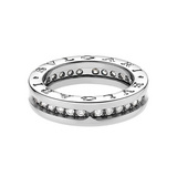 B.Zero1 18k White Gold & Diamond Band