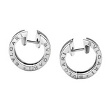 Small B.Zero1 18k White Gold Hoop Earrings