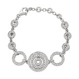 "18k White Gold & Diamond ""Cerchi"" Bracelet"