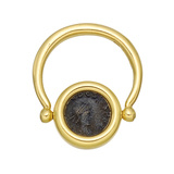"Ancient Coin ""Monete"" Flip Ring"
