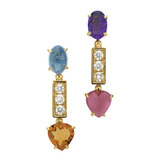 Color Collection Short Pendant Earrings