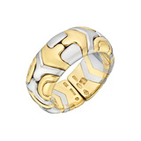 "​18k Yellow Gold & Steel ""Parentesi"" Band Ring"