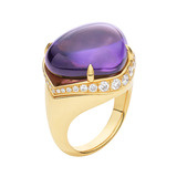 """Mediterranean Eden"" Amethyst Ring with Diamond"