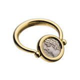 Monete Antique Coin Flip Ring