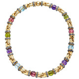 Multicolored Gemstone Bead Choker Necklace