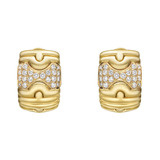 18k Gold &amp; Pav Diamond &quot;Parentesi&quot; Earclips
