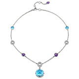 Parentesi Multicolored Gemstone Necklace