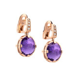 Parentesi Cocktail Amethyst Drop Earrings with Diamond