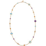 Parentesi Cocktail Multicolored Gemstone Long Necklace