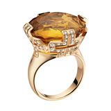 Parentesi Citrine Large Ring with Diamond
