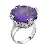 Parentesi Amethyst Large Ring with Diamond