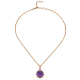 "Amethyst ""Parentesi"" Pendant Necklace"