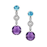 Parentesi Multicolored Gemstone Drop Earrings