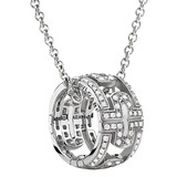 Parentesi 18k White Gold & Diamond Pendant