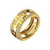 "18k Yellow Gold & Diamond ""Parentesi"" Band Ring"
