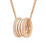 "18k Pink Gold & Diamond ""BZero1"" Pendant Necklace"