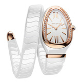 ​Serpenti Spiga Pink Gold & White Ceramic (102613)