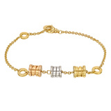"​18k Tricolored Gold ""BZero1"" Bracelet"