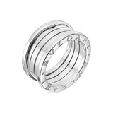 ​B.Zero1 18k White Gold 3-Band Ring