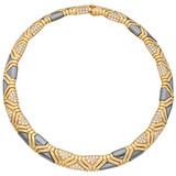 18k Gold, Hematite & Pavé Diamond Collar Necklace