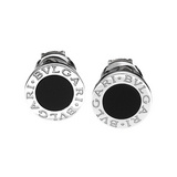 Bvlgari-Bvlgari 18k White Gold & Onyx Earrings