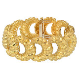 18k Gold 'C'-Shaped Link Bracelet