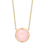 "Small 18k Gold & Pink Opal ""Halo"" Pendant"
