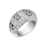 Pavé Black & White Diamond Dome Ring
