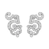 "18k White Gold & Diamond ""Boudoir"" Earclips"