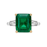 4.99 Carat Colombian Emerald & Diamond Ring
