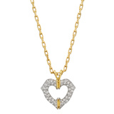 ​18k Gold & Diamond Heart Pendant