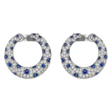 Diamond & Sapphire ​Panthère Hoop Earrings