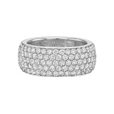 5-Row Diamond Eternity Band Ring
