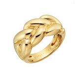 ​Braided 18k Yellow Gold Band Ring